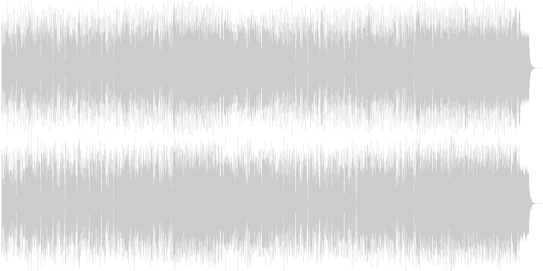 ドラマチックなピアノなどのサウンドの未再生の波形