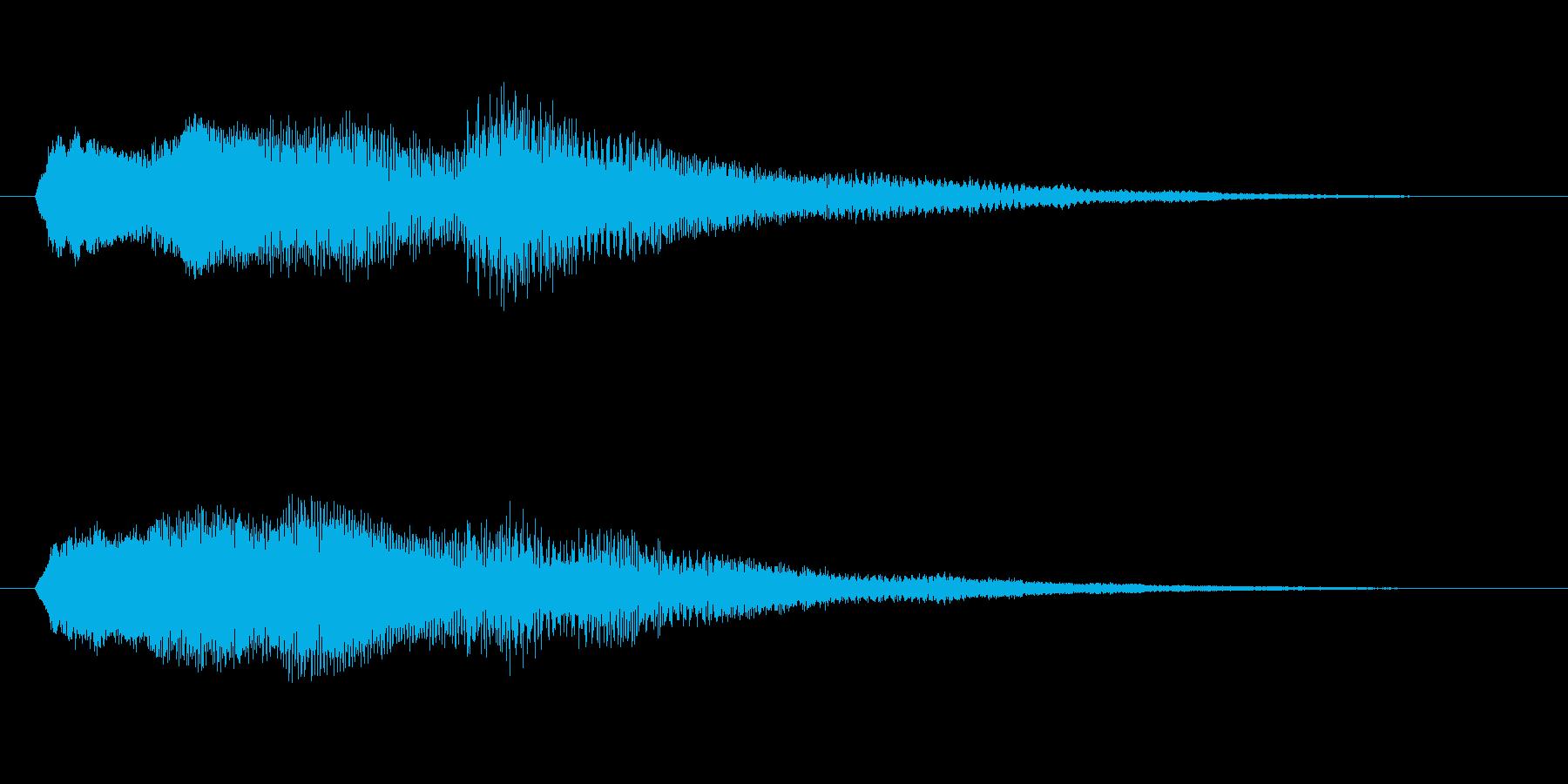 ミステリー&ホラー・発見・導入音2の再生済みの波形
