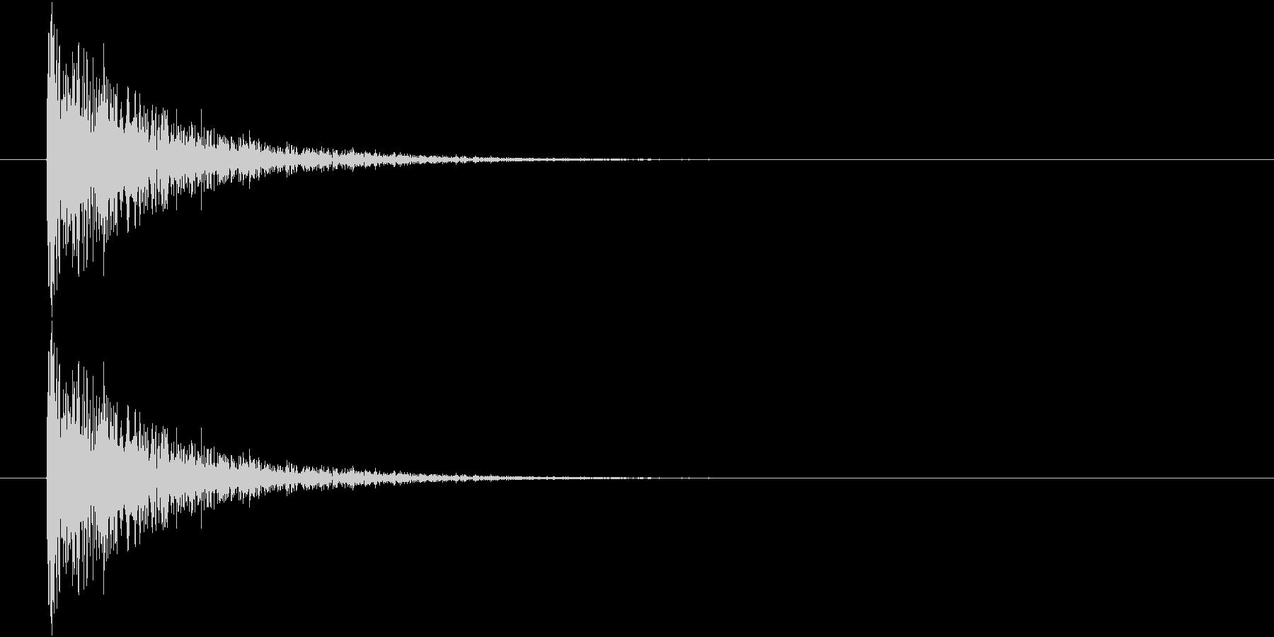 レーザービーム音(ピュン)の未再生の波形