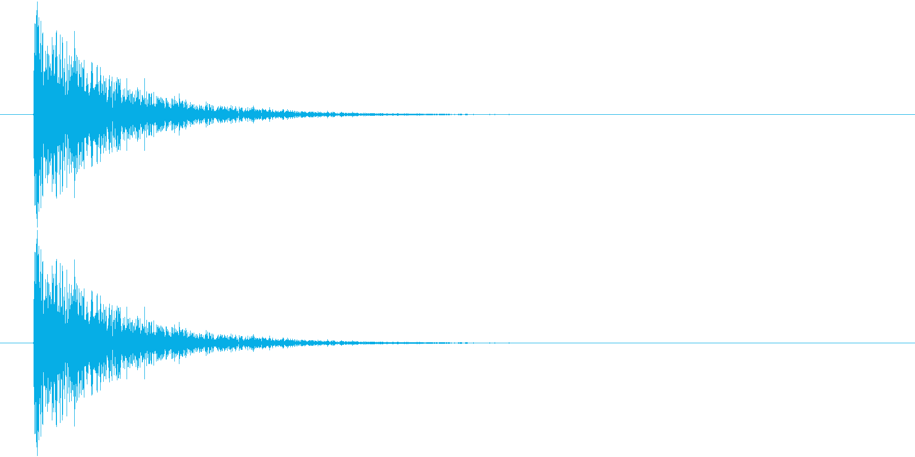 レーザービーム音(ピュン)の再生済みの波形