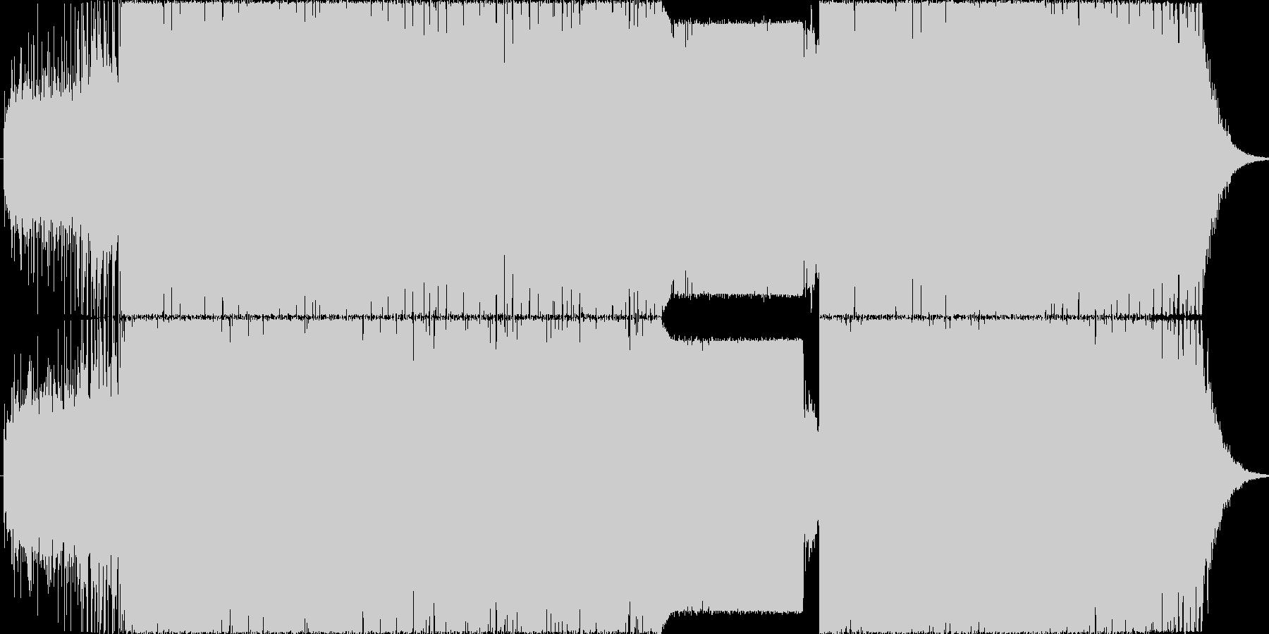 カッコイイ打ち込み疾走BGMの未再生の波形