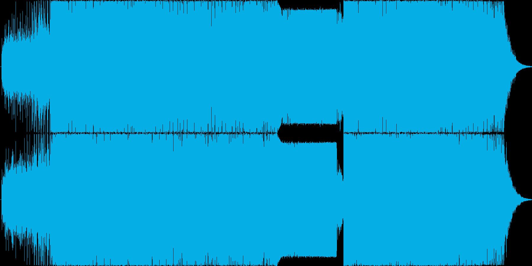 カッコイイ打ち込み疾走BGMの再生済みの波形