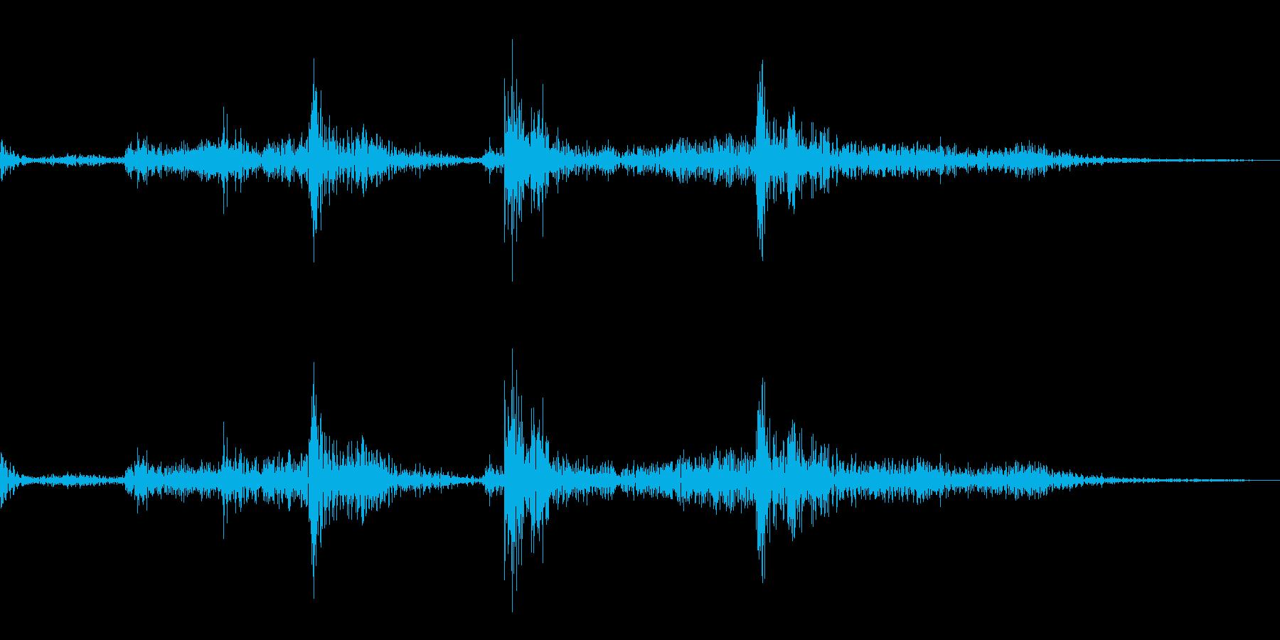 一眼レフのシャッター音の再生済みの波形