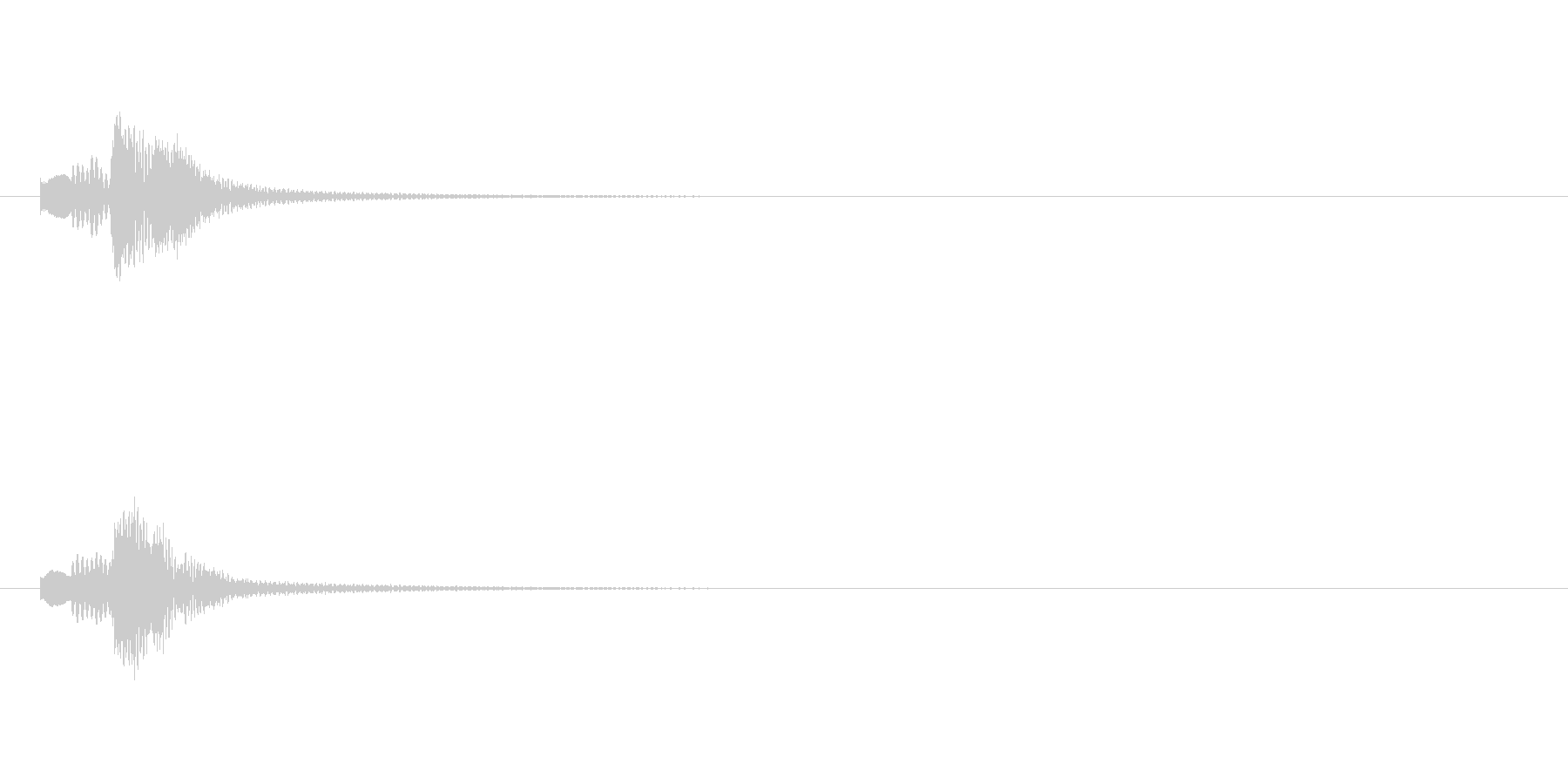 【ショートブリッジ01-3】の未再生の波形