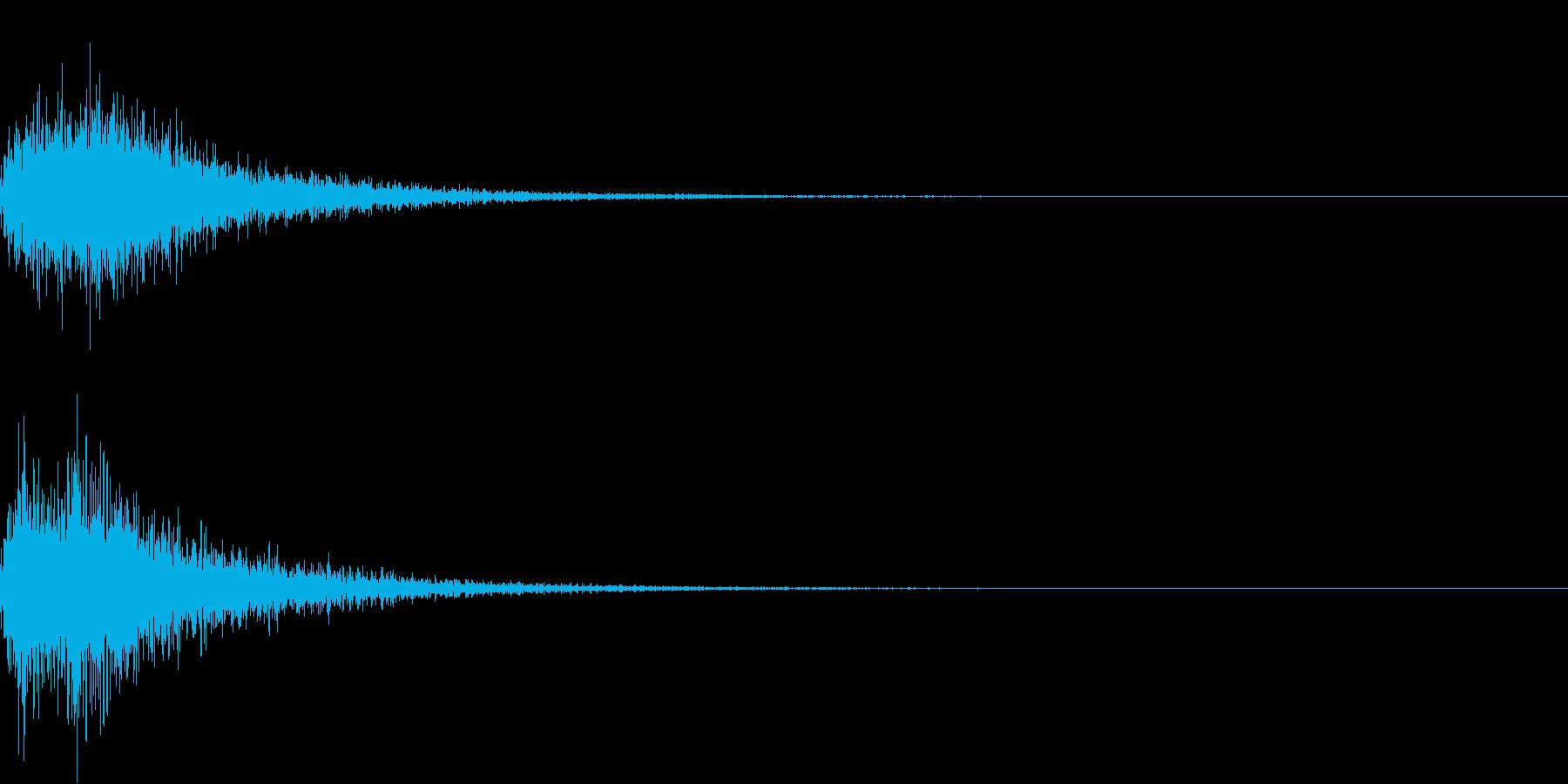 カカン!和風な歌舞伎の床音(附け木)02の再生済みの波形