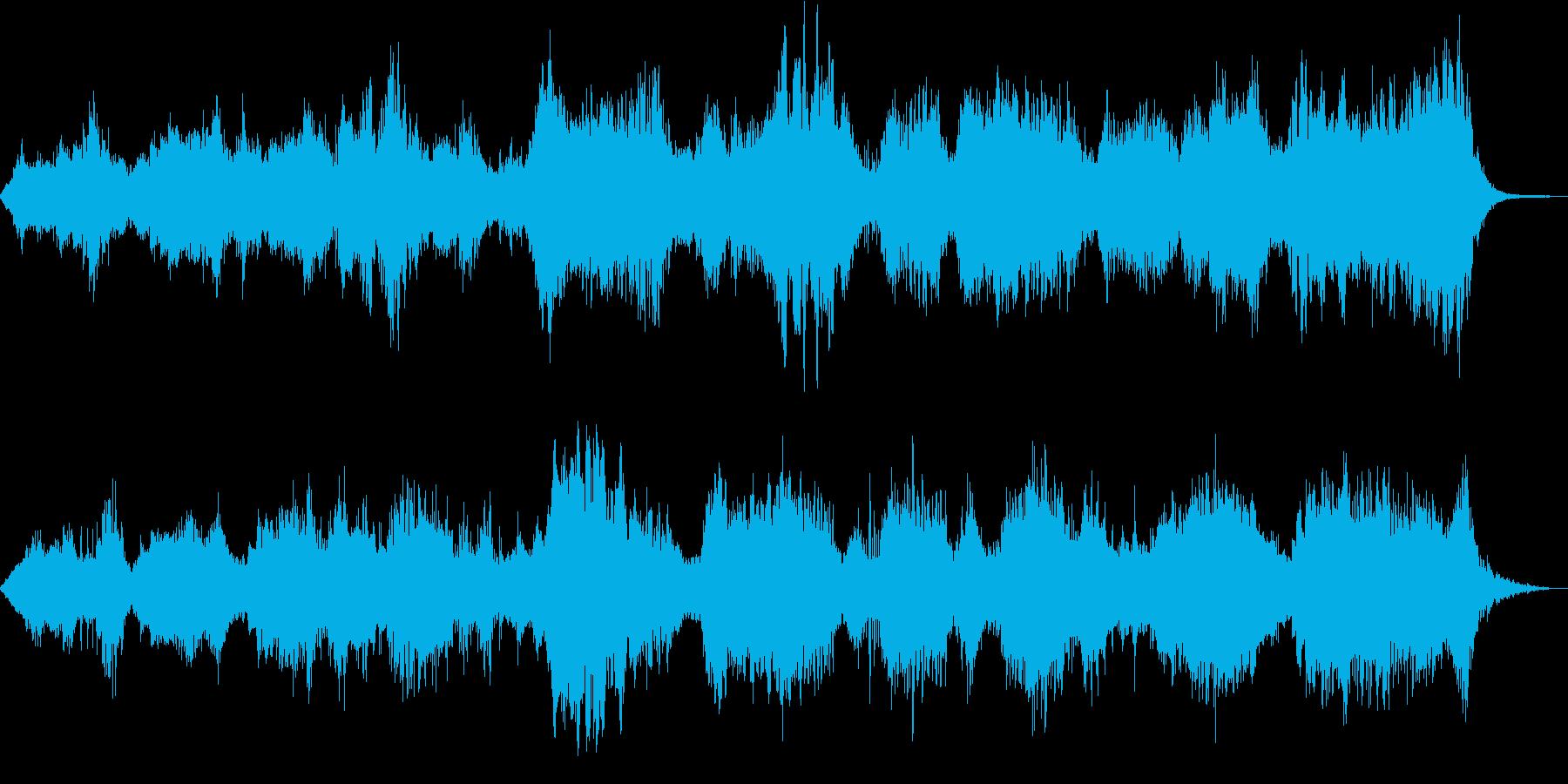 アンビエントな和風系暗めのBGMの再生済みの波形