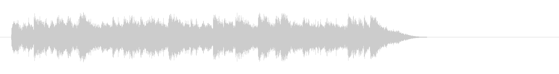 透明なポップバラード(サビ)の未再生の波形