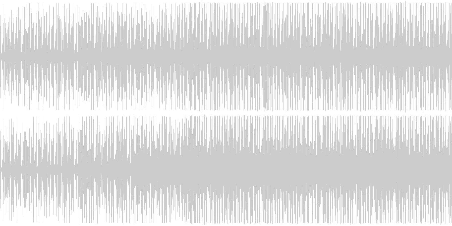 明るいほのぼのアンサンブルの未再生の波形