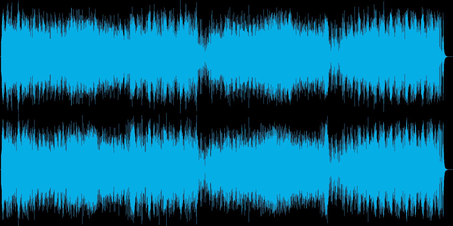 楽しげな印象のピアノポップスの再生済みの波形