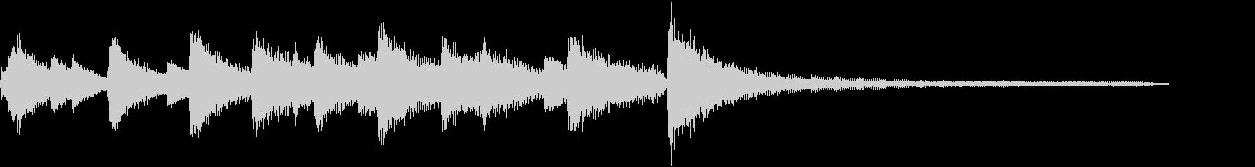 ピアノ生演奏 CM ジングル 商業用ロゴの未再生の波形