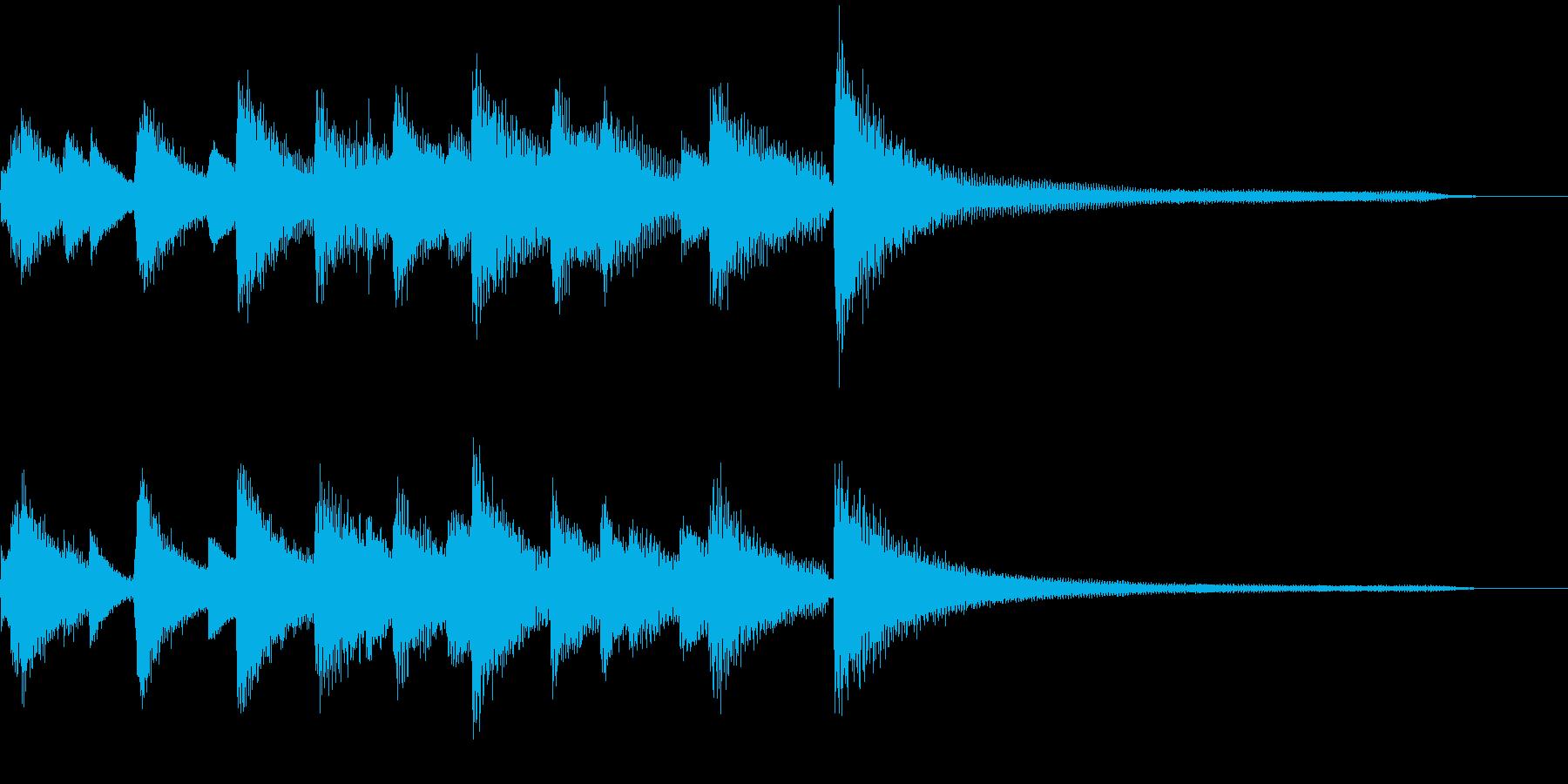 ピアノ生演奏 CM ジングル 商業用ロゴの再生済みの波形