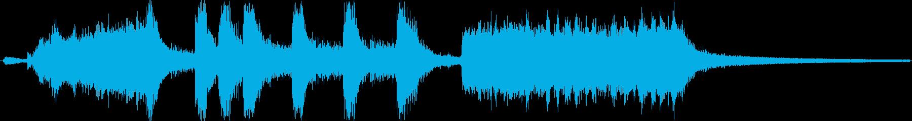 交響曲のラスト風、派手なジングルの再生済みの波形