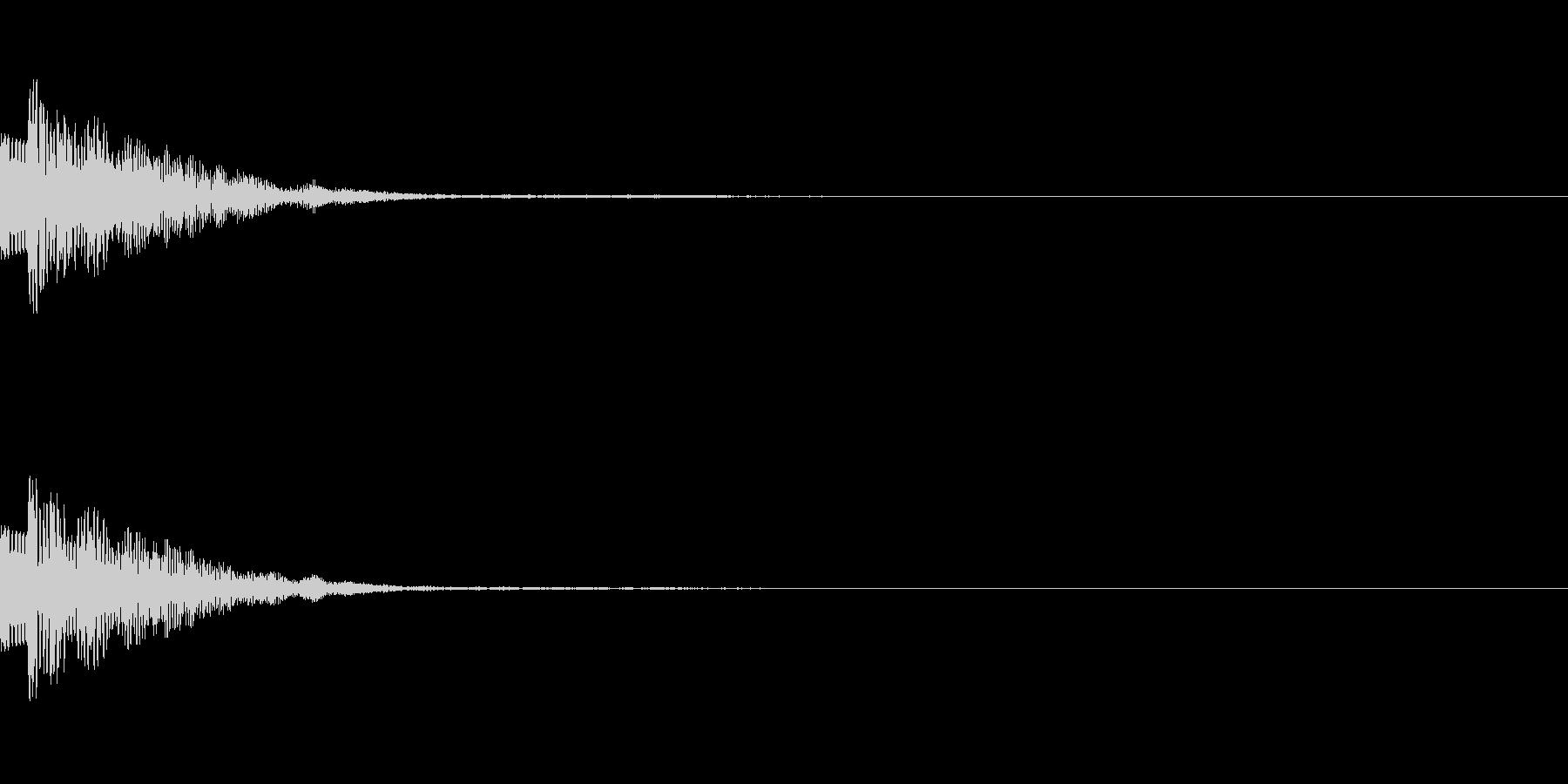 ポイッ、ヒョイッ(カーソル、選択、操作)の未再生の波形
