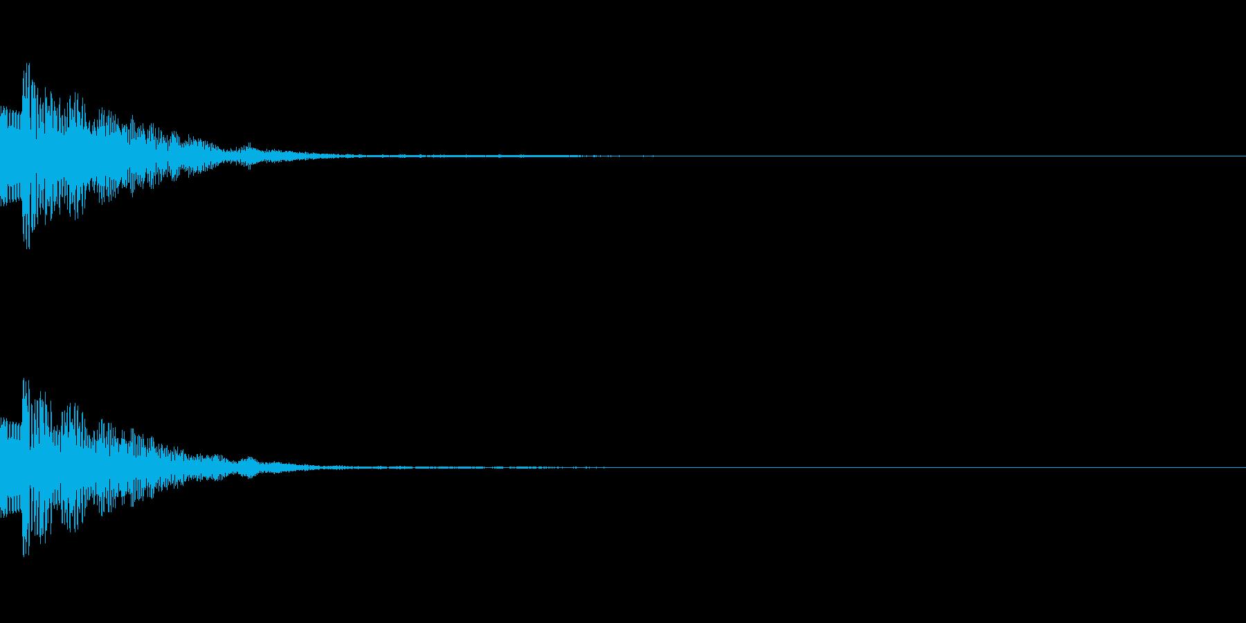 ポイッ、ヒョイッ(カーソル、選択、操作)の再生済みの波形