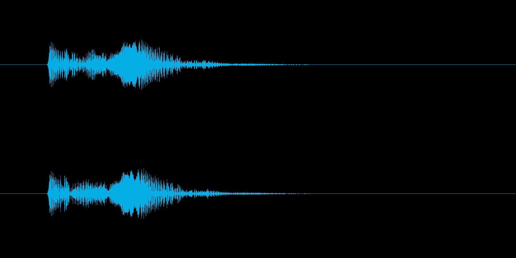 きゅぽん(吸着やドロップのイメージ)の再生済みの波形