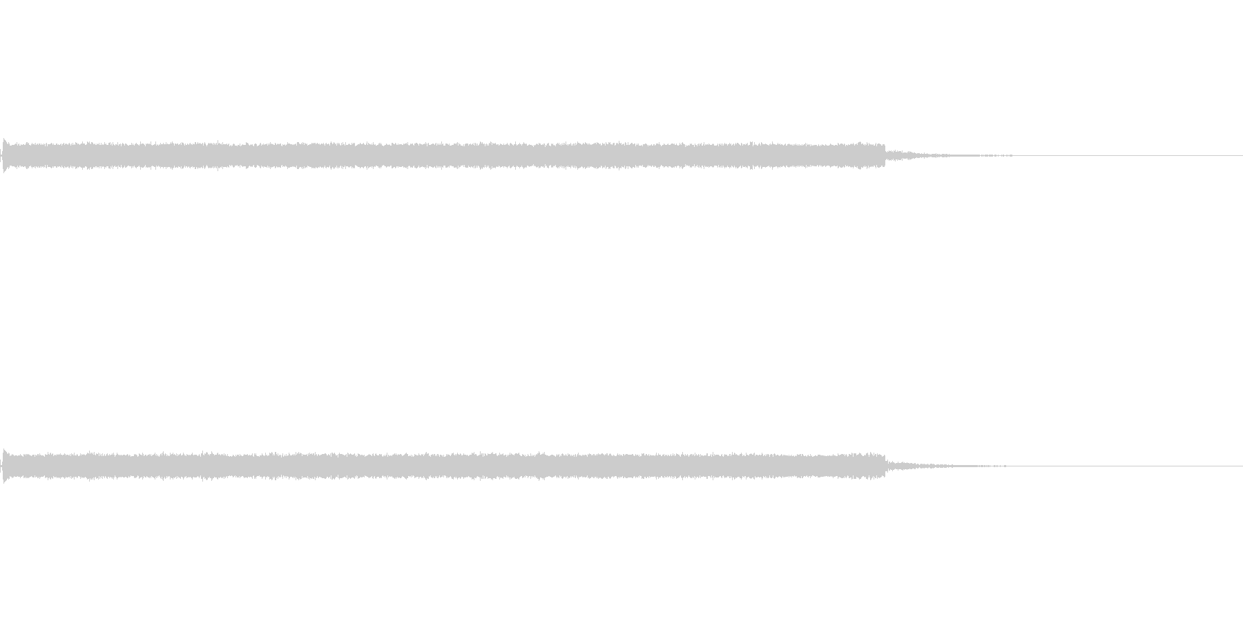ピロピロピコピコ音の未再生の波形