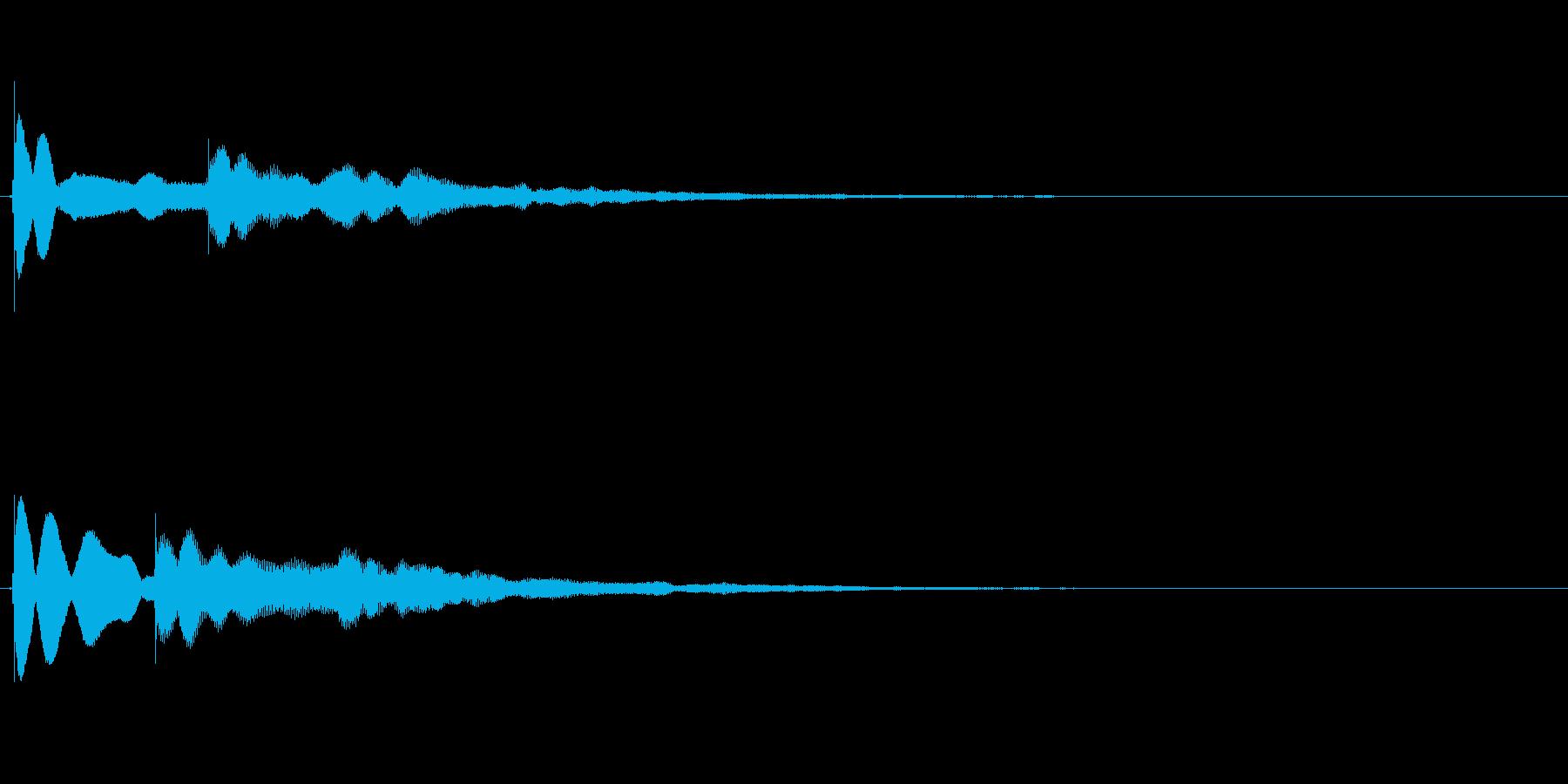 【チーン01-3】の再生済みの波形