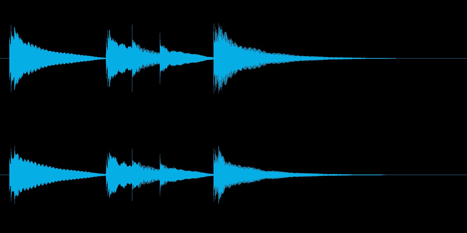 入眠オルゴールです の再生済みの波形