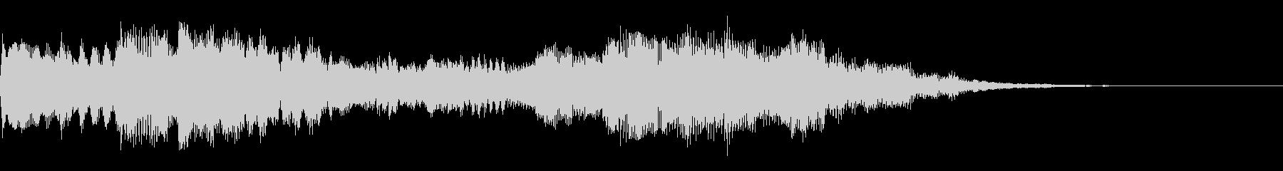 キラキラしたサウンドロゴ、ジングルの未再生の波形