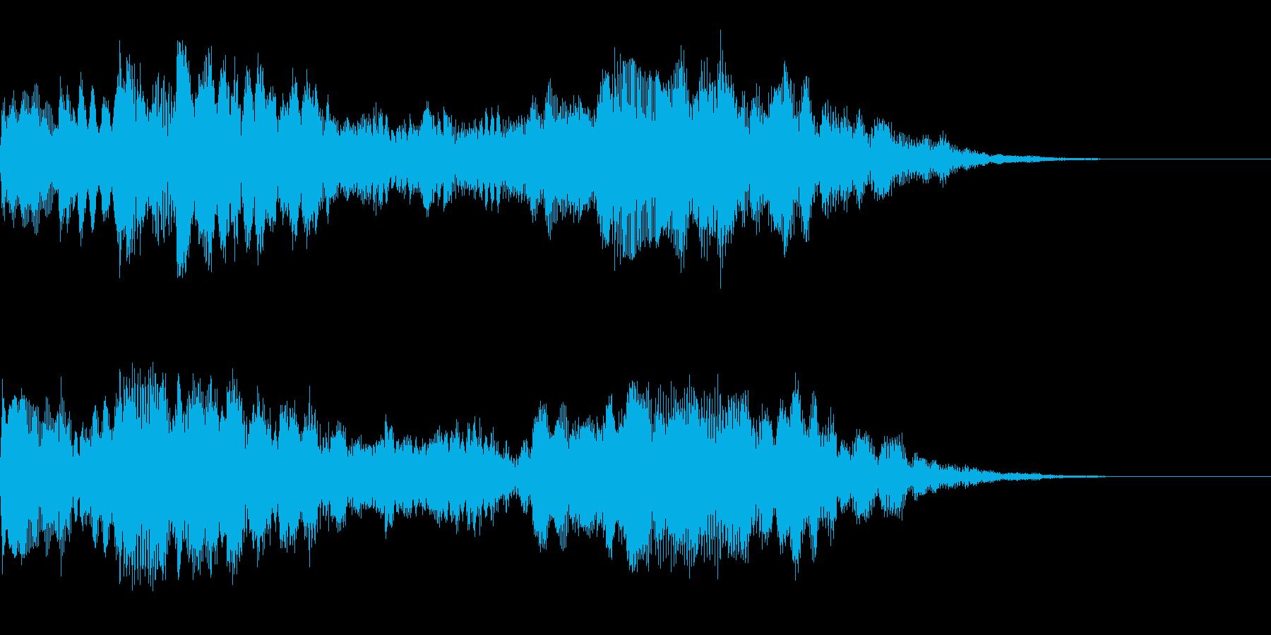キラキラしたサウンドロゴ、ジングルの再生済みの波形