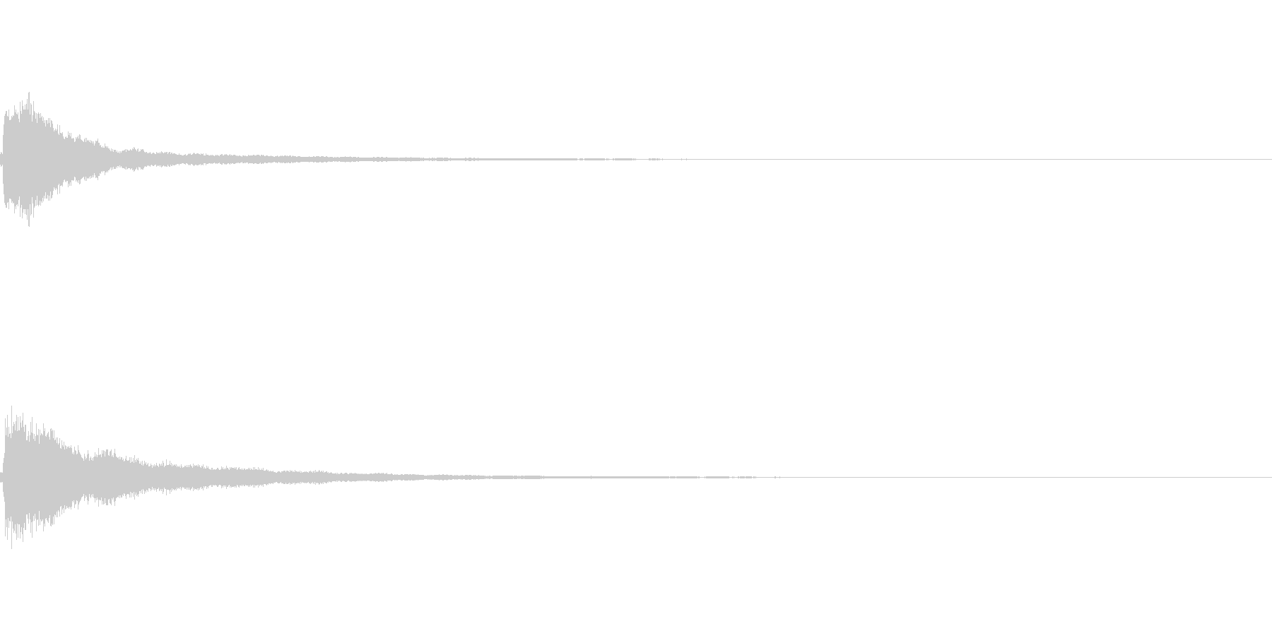 チーン:距離感のある卓上ベルの未再生の波形