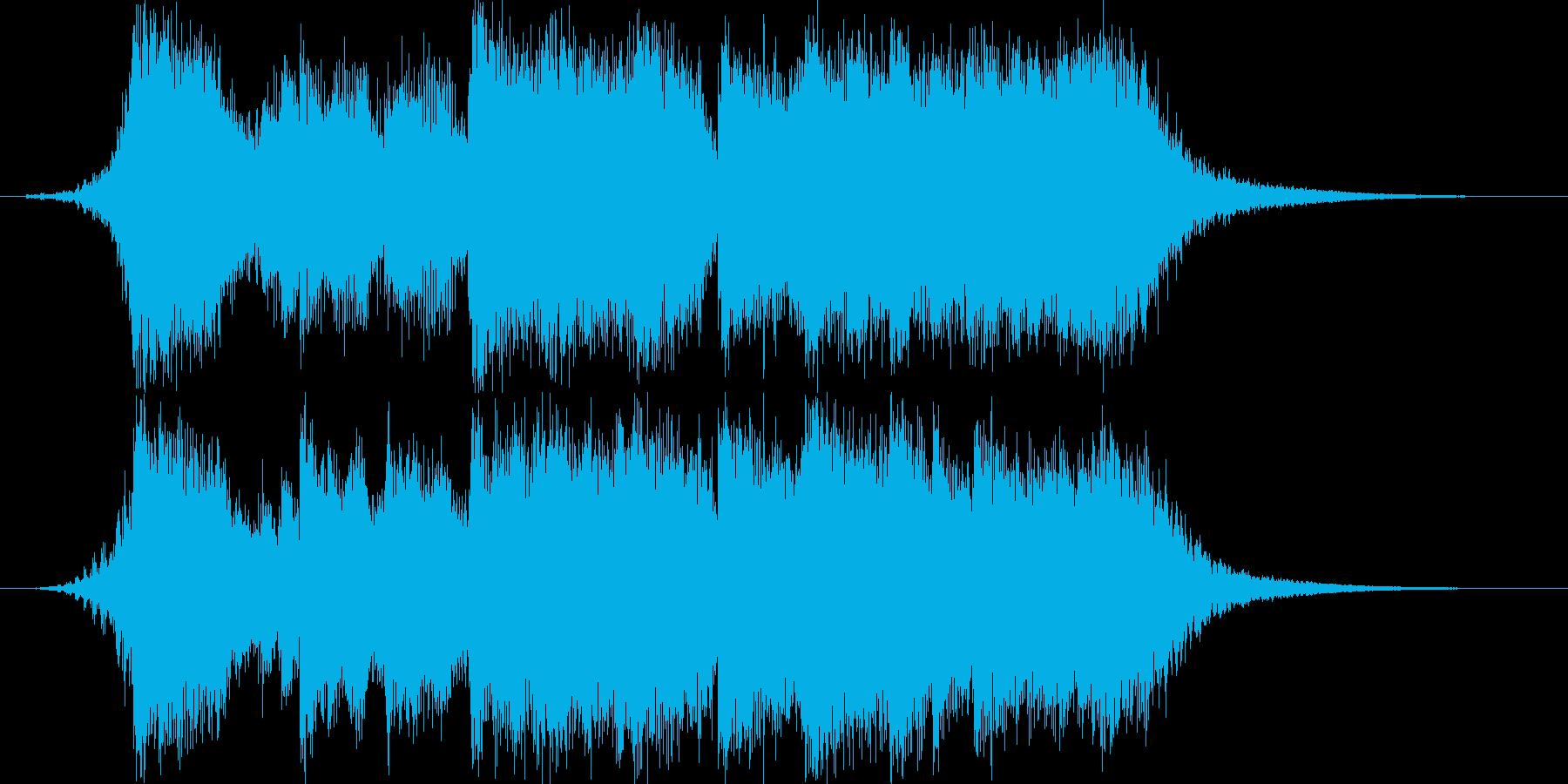 重厚感のあるファンファーレ01の再生済みの波形