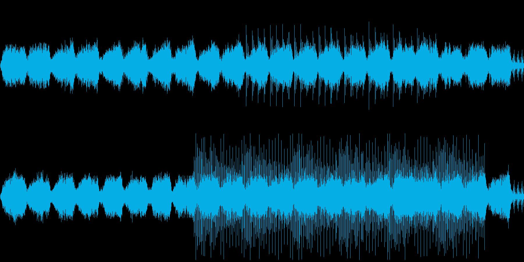 ゆったりとくつろげる環境音楽の再生済みの波形