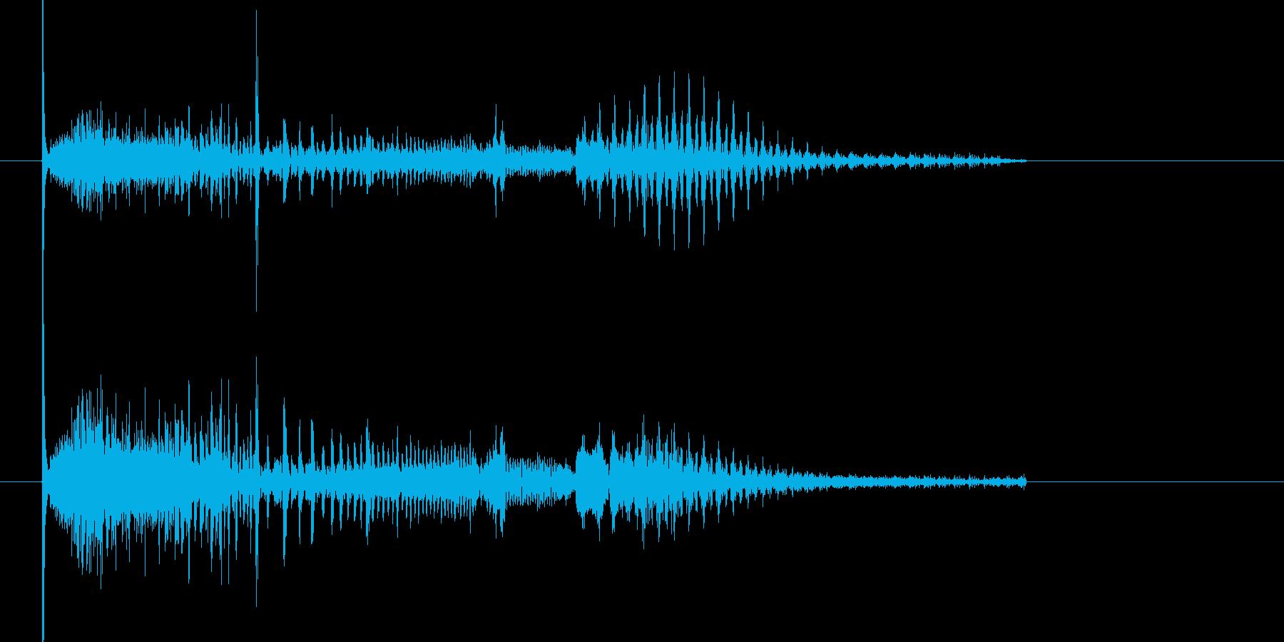 キューン キュキュキューン(シンセ音)の再生済みの波形