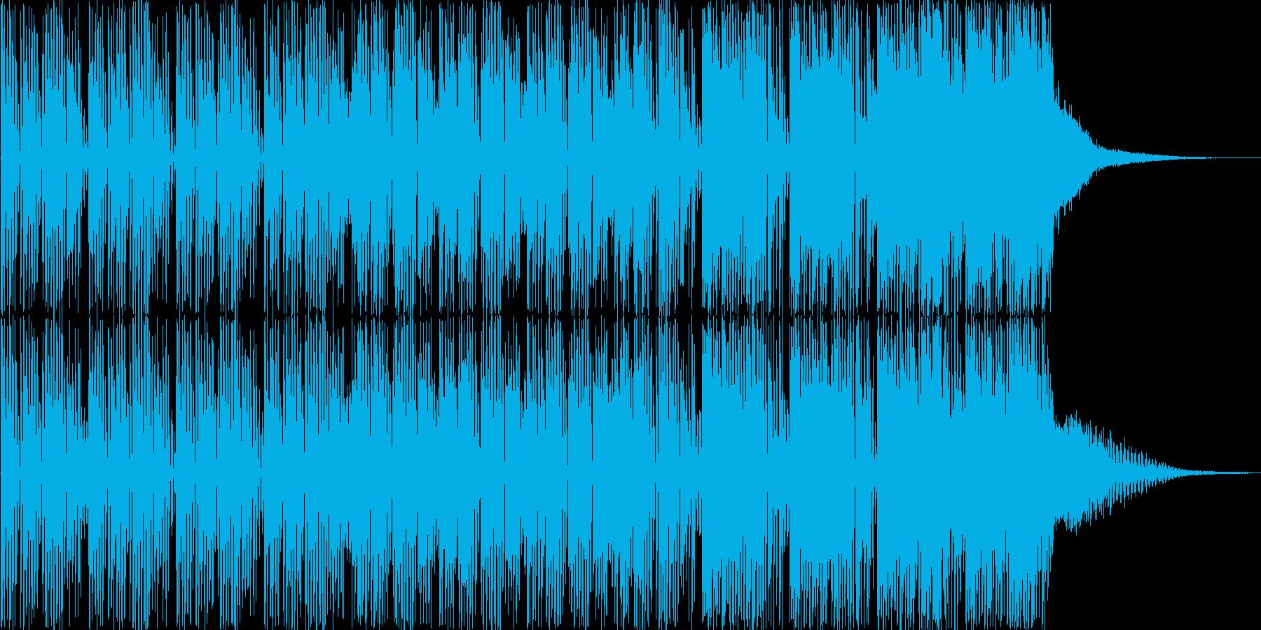 コミカル、愉快なBGMの再生済みの波形