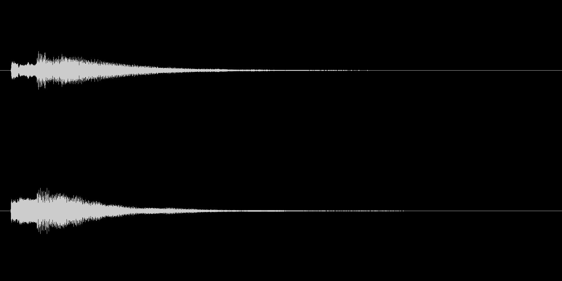 ティロン♪(決定音など)の未再生の波形