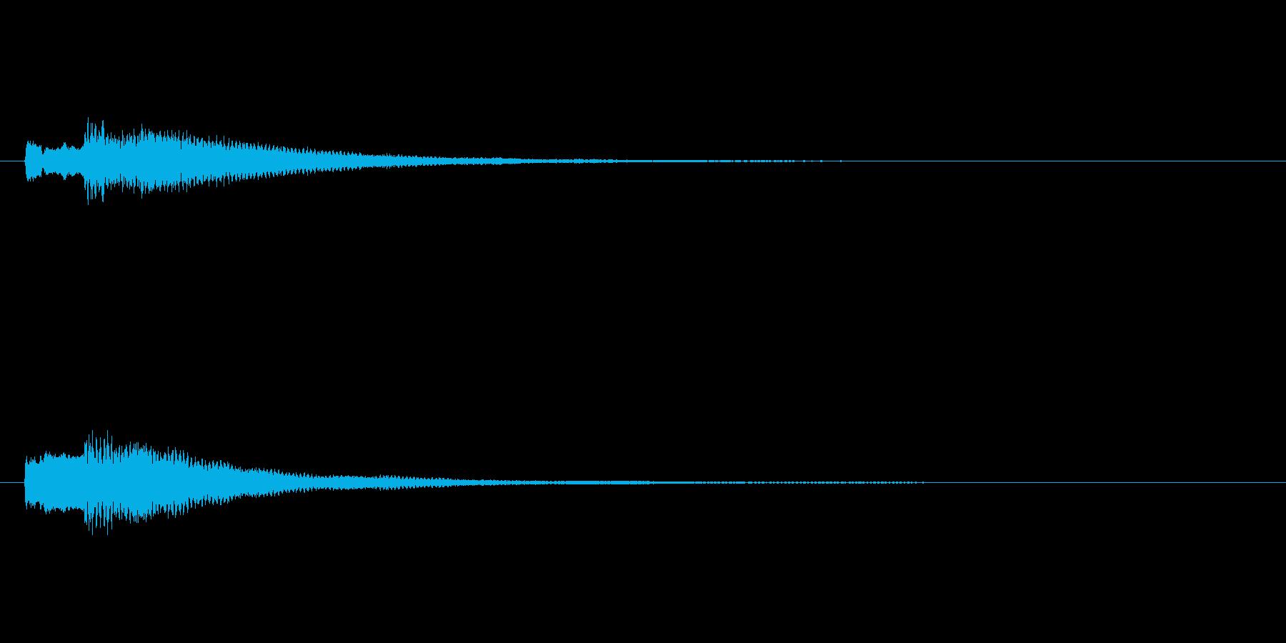 ティロン♪(決定音など)の再生済みの波形