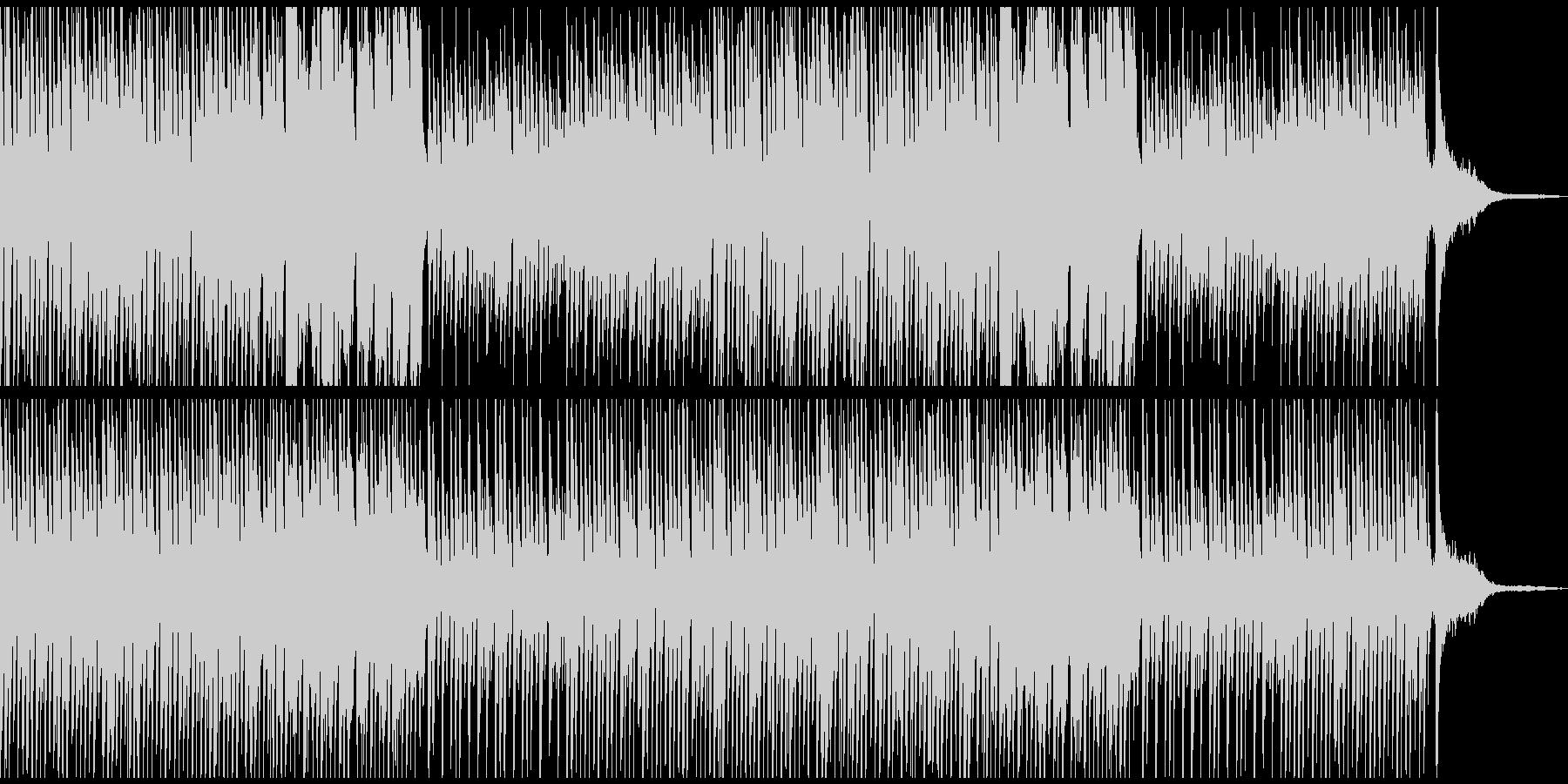 かわいいCMに おしゃれでコミカルな曲の未再生の波形