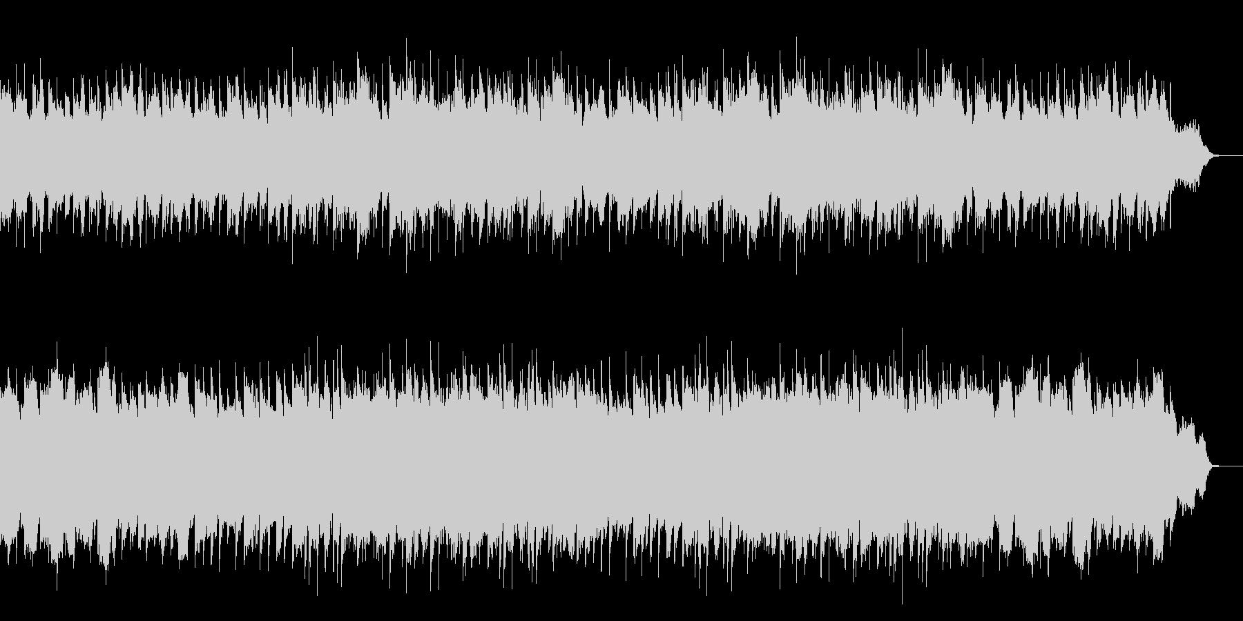 懐かしくてホッとするピアノ中心のワルツの未再生の波形