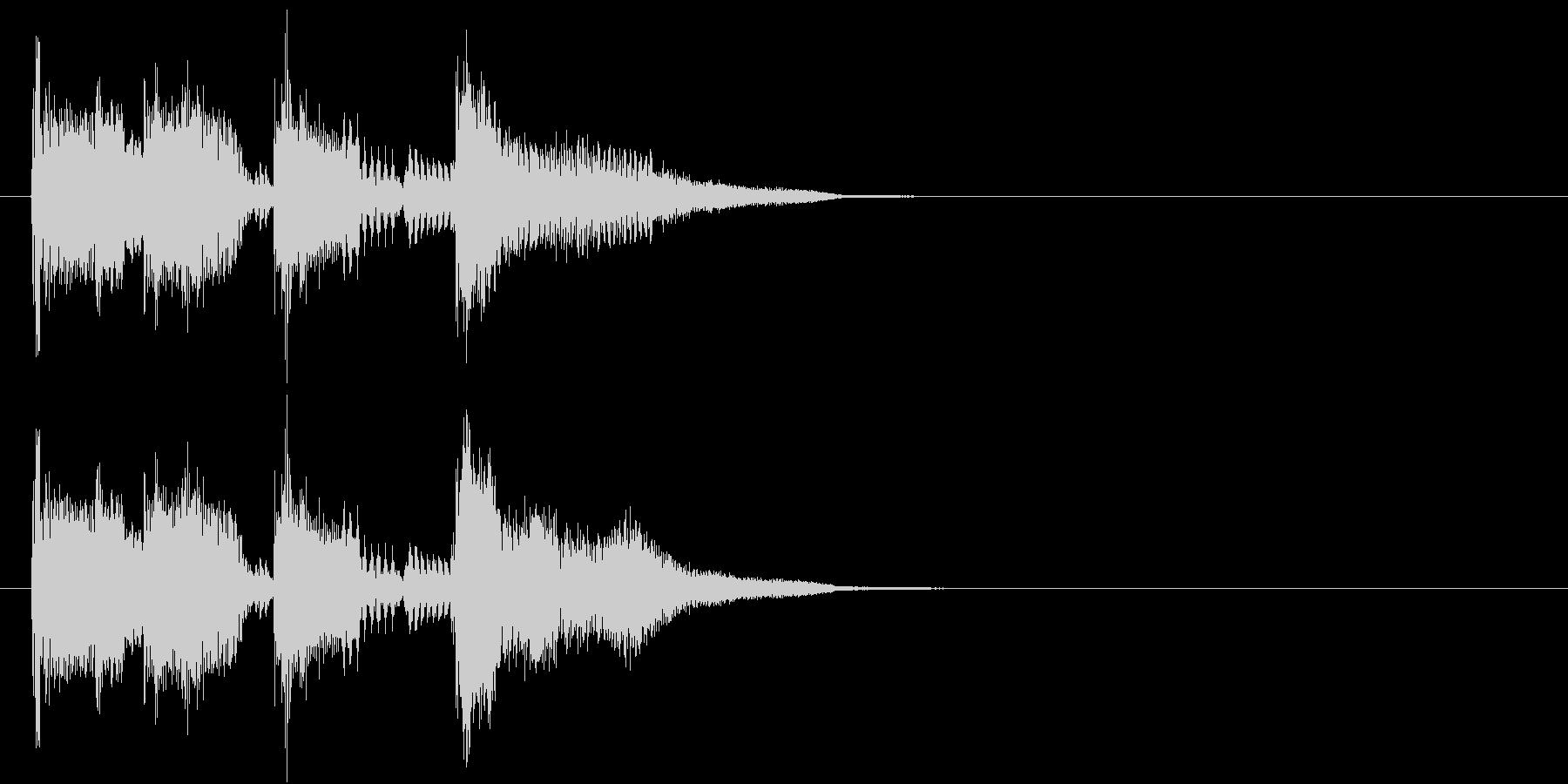 124bpm、G-Maj、2小節ジングルの未再生の波形