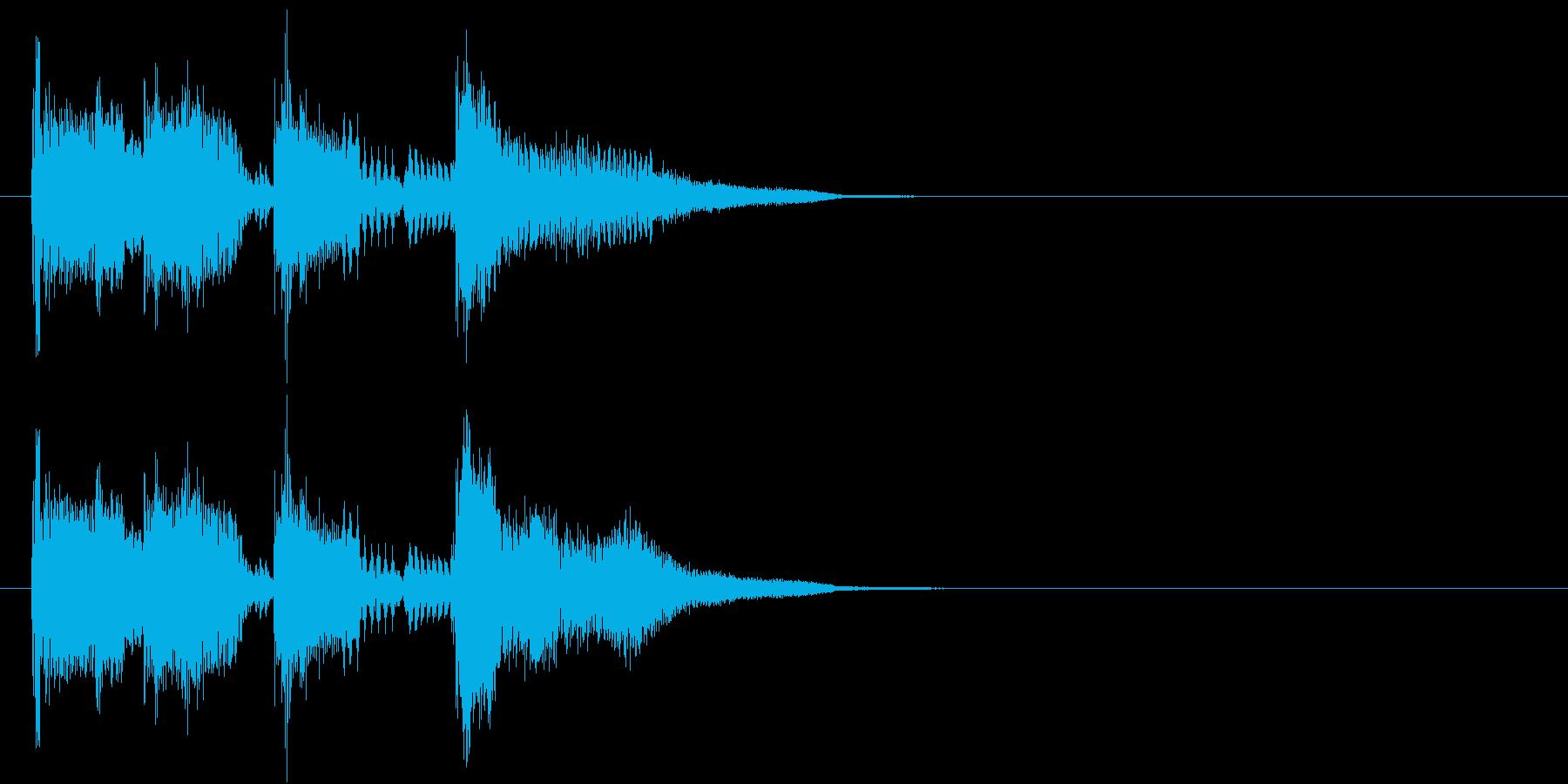 124bpm、G-Maj、2小節ジングルの再生済みの波形