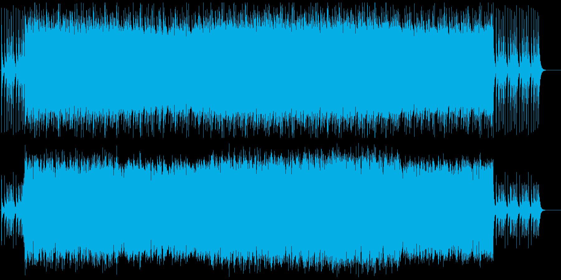 クリスマス用の軽快なBGMの再生済みの波形