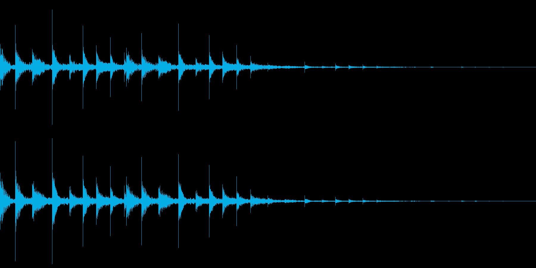 ディレイがかかったフレクサトーンの再生済みの波形