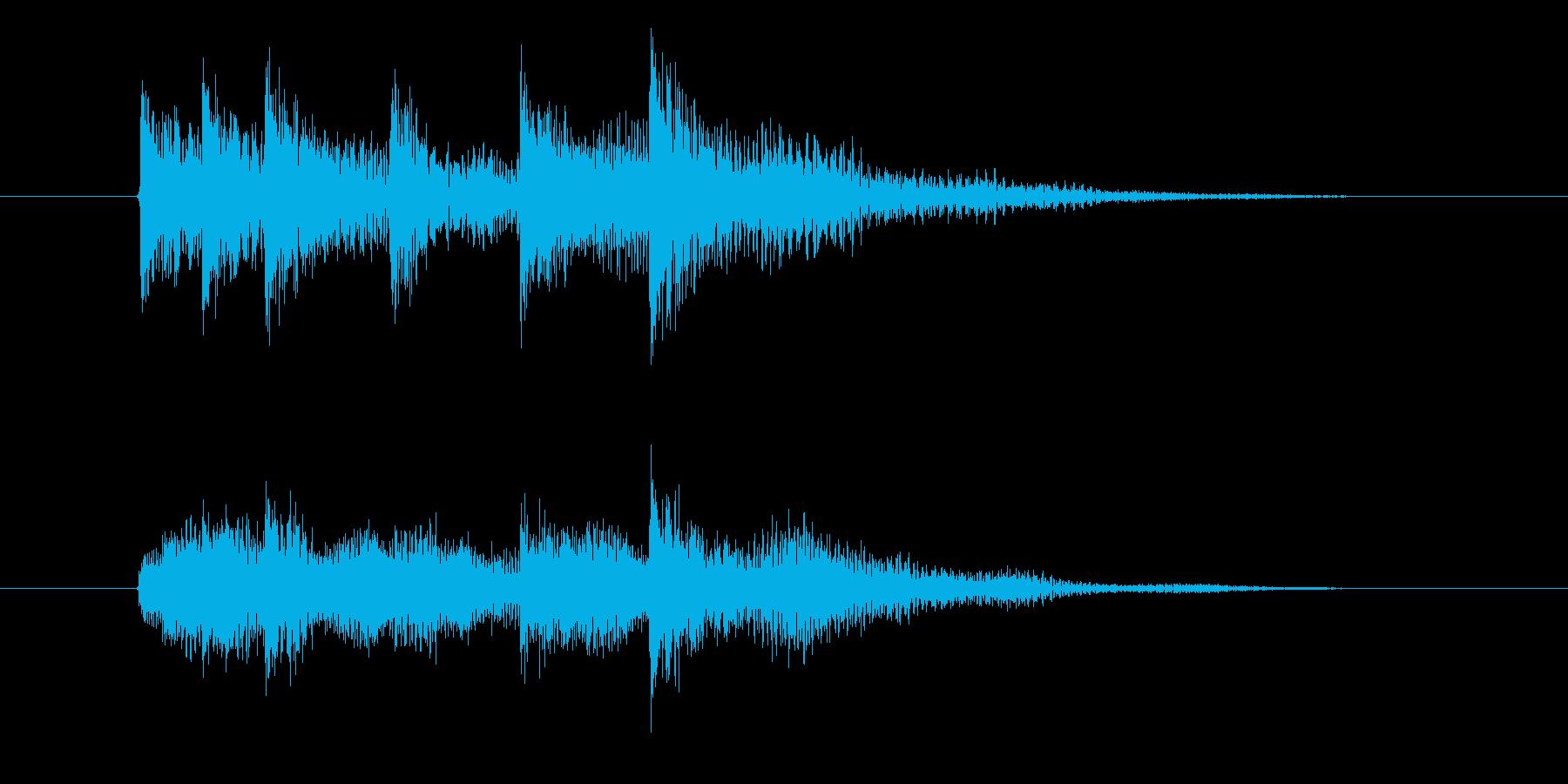 次への発展を促す音(展開音)の再生済みの波形