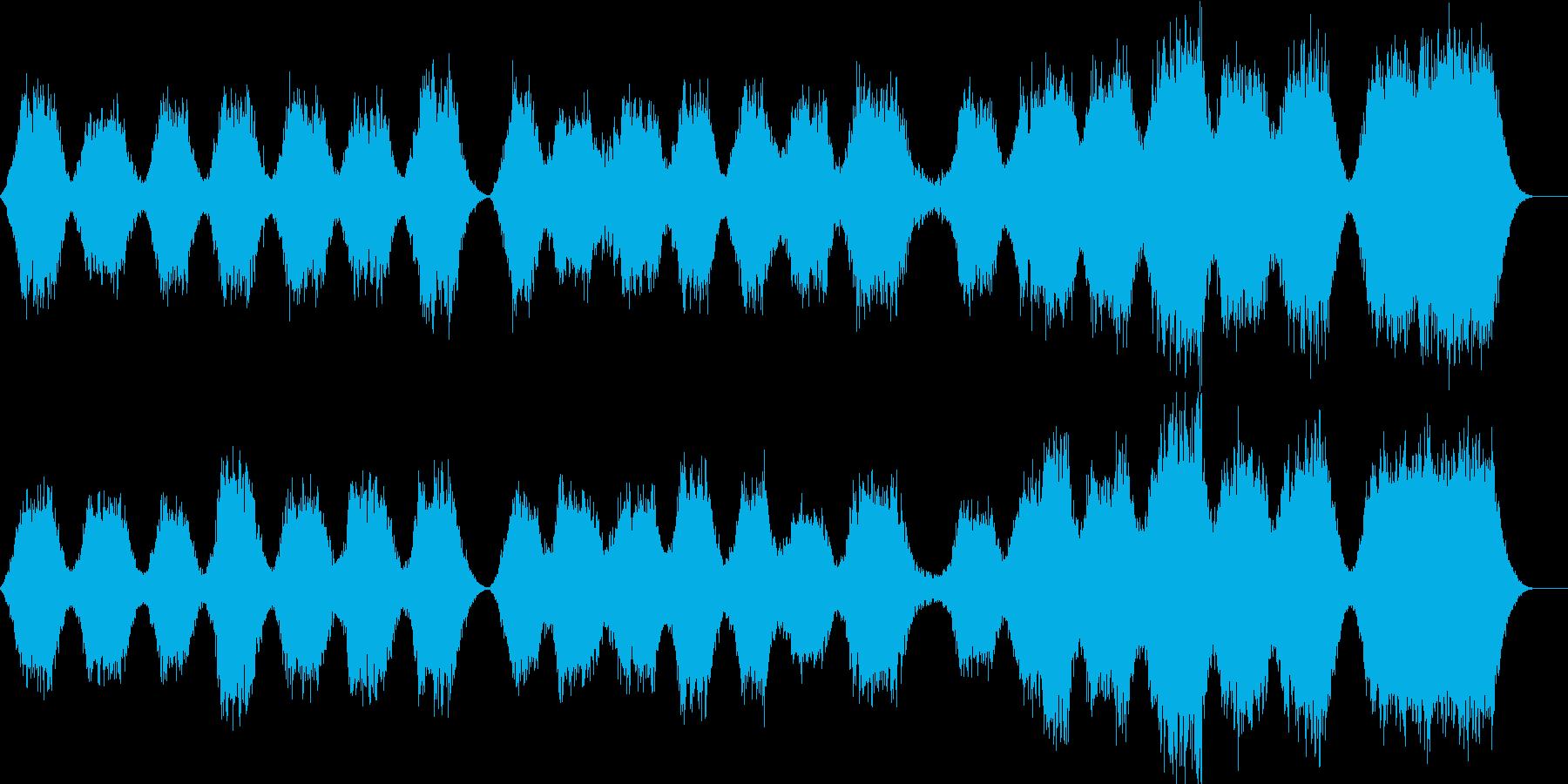幻想的で重厚なコーラスの再生済みの波形