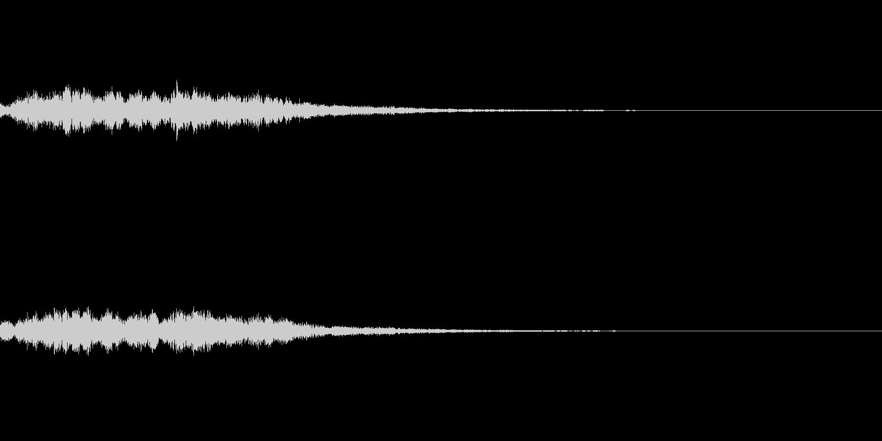 システム音 決定 セーブの未再生の波形
