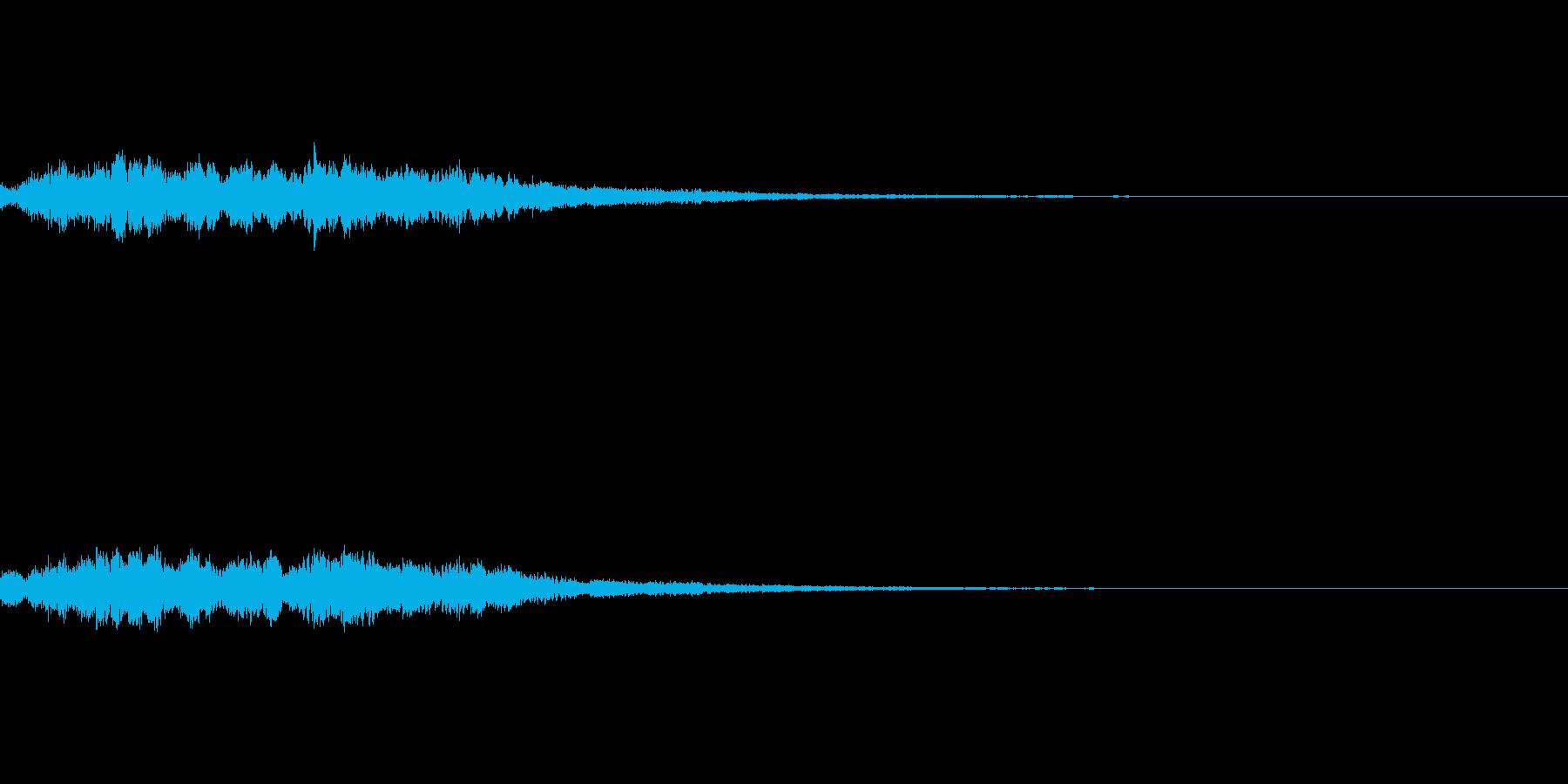 システム音 決定 セーブの再生済みの波形