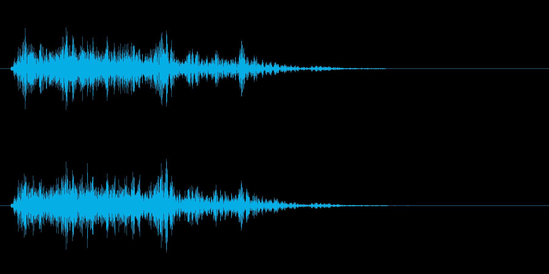 リアルな雷の効果音!の再生済みの波形