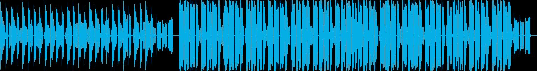 ピコピコ音のする4つ打ちBGMの再生済みの波形
