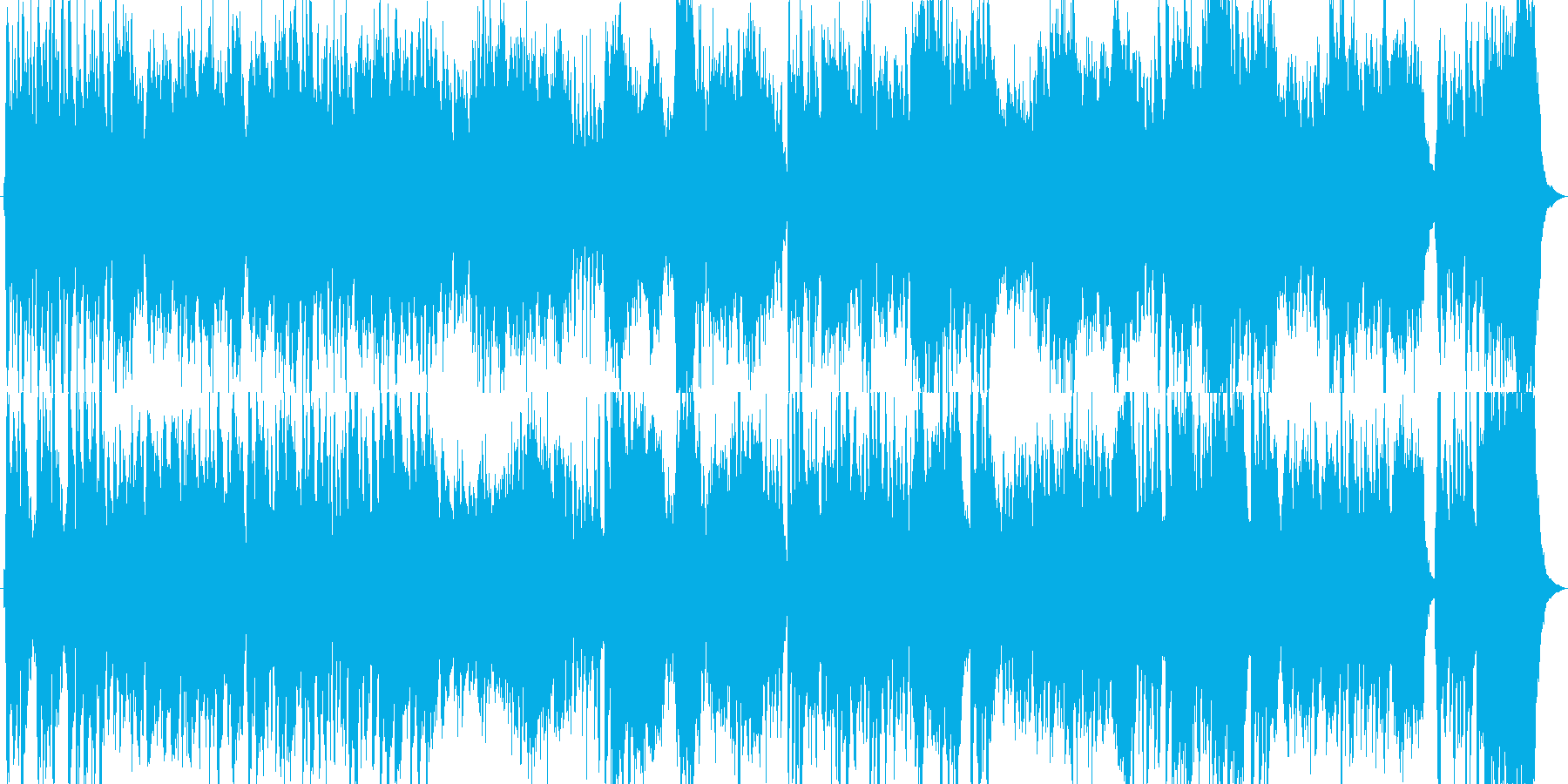 バロック調の雰囲気の豪華絢爛なBGMの再生済みの波形