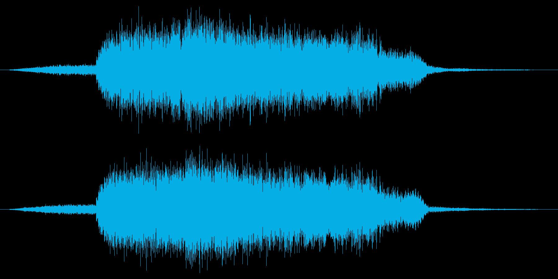 「ギューゥ-ゥ-ン」の再生済みの波形