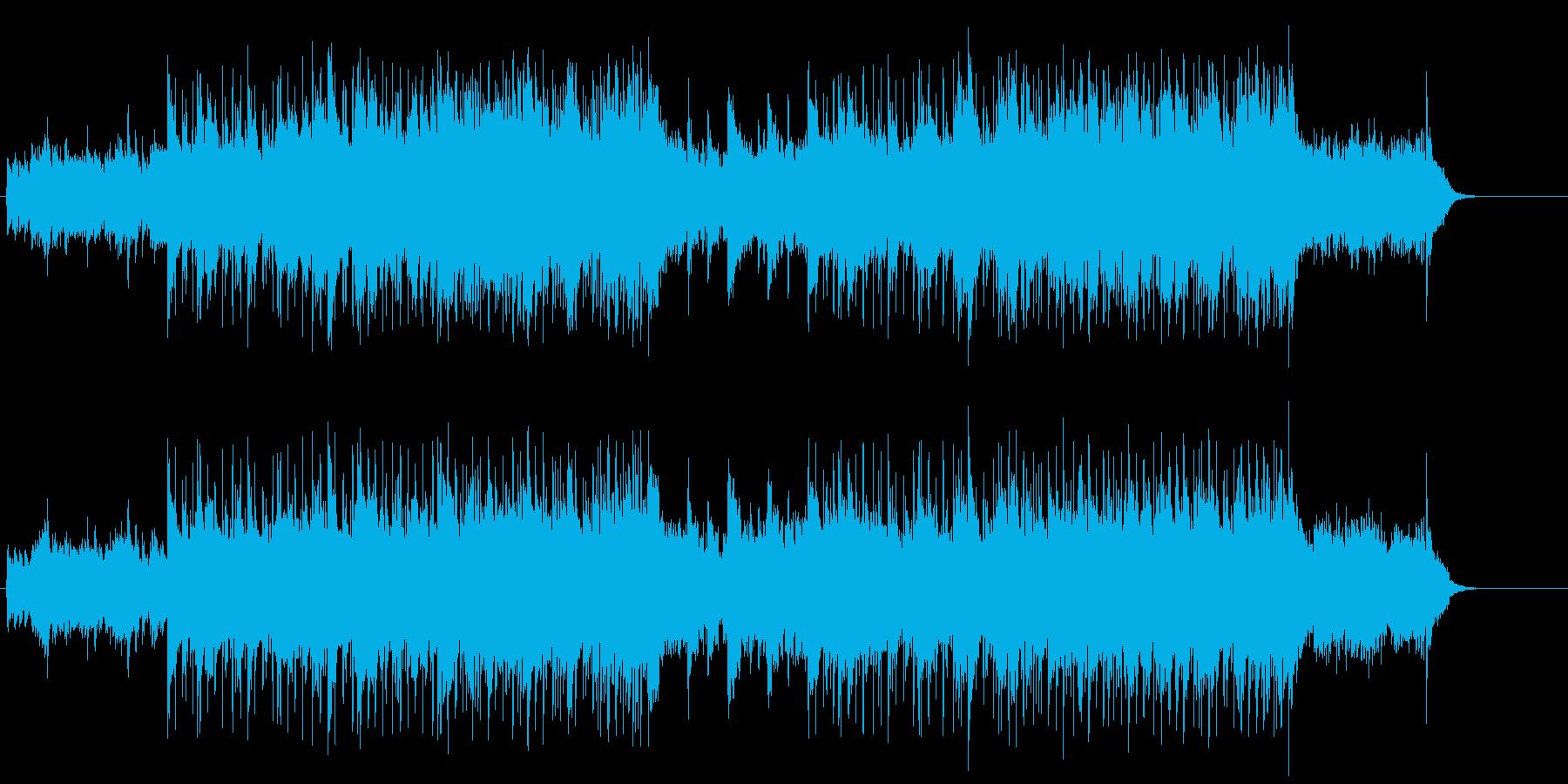 流れるピアノのライトタッチのフュージョンの再生済みの波形