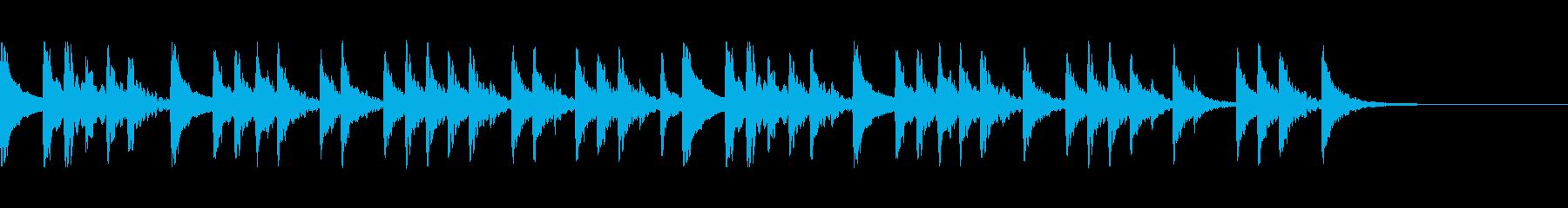 お祭り風の太鼓の再生済みの波形