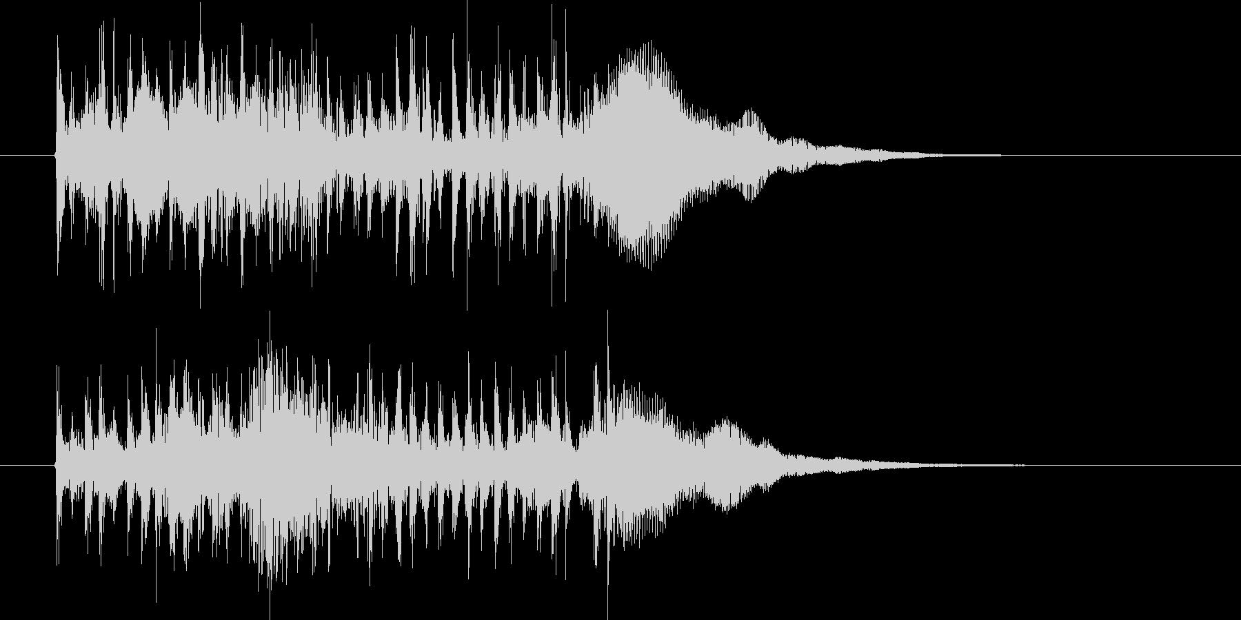 疾走感とドキドキ感のシンセサウンド短めの未再生の波形