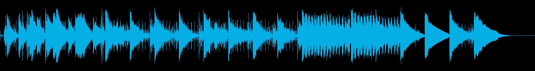 孤独を愛するロボットのイメージ曲の再生済みの波形