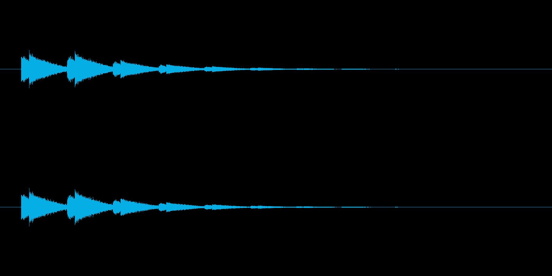 【アクセント26-4】の再生済みの波形